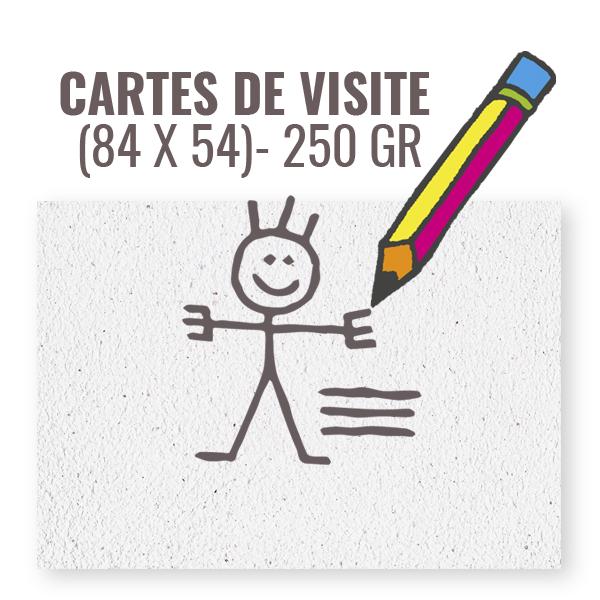 CARTE DE VISITE 85 X 55 250 Gr