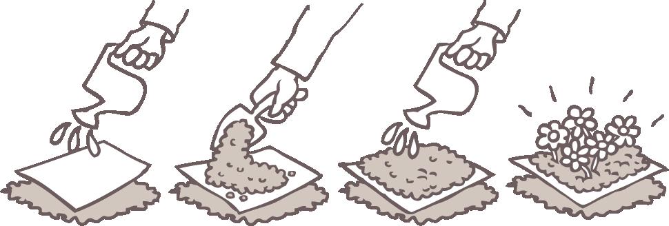 Papier pour cahier avec graines Bloc-notes /écologique /à planter 1 stylo /écologique graines de fleurs