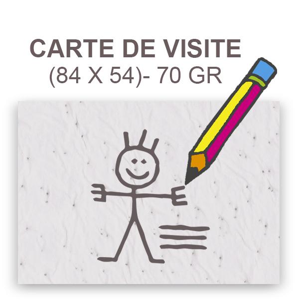 Carte De Visite 85 X 55 Recto 70 Gr